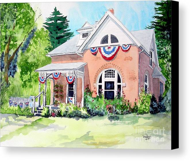 Americana Canvas Print featuring the painting Americana by Tom Riggs