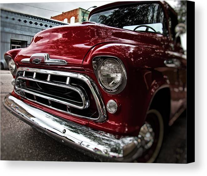 Classic Car Canvas Print featuring the photograph Chevy Truck by Mark Alder