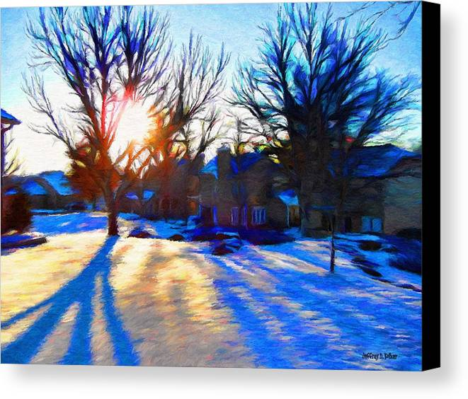 Cold Canvas Print featuring the painting Cold Morning Sun by Jeffrey Kolker