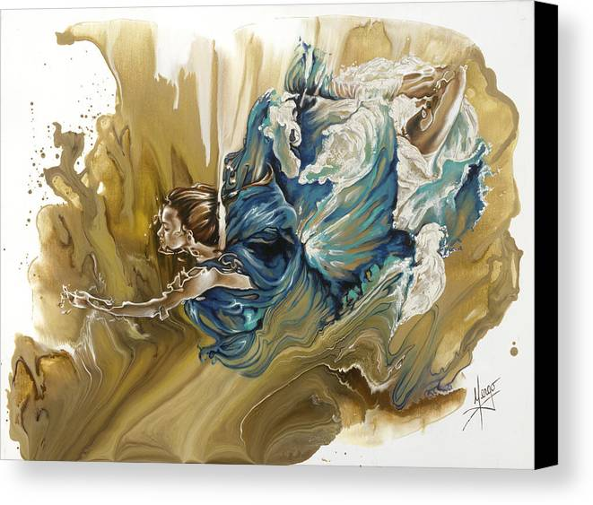 Deliver Canvas Print featuring the painting Deliver by Karina Llergo