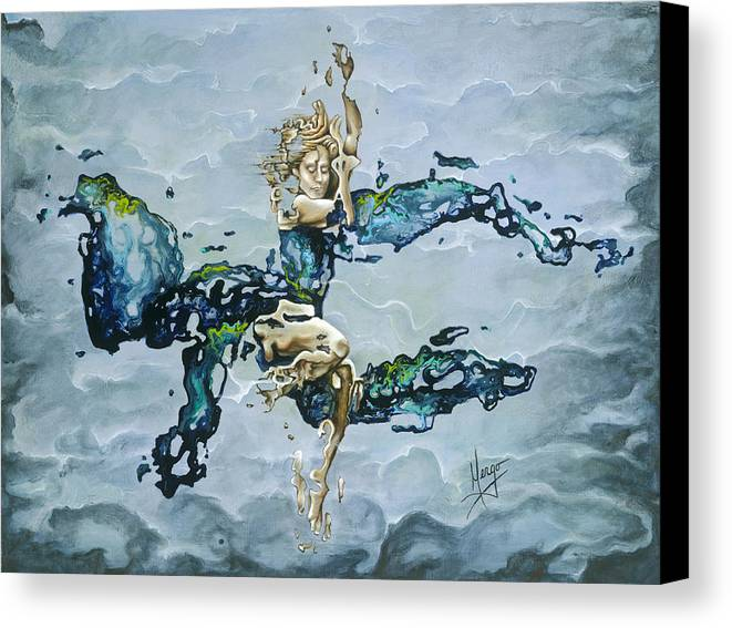 Karina Canvas Print featuring the painting Dream by Karina Llergo