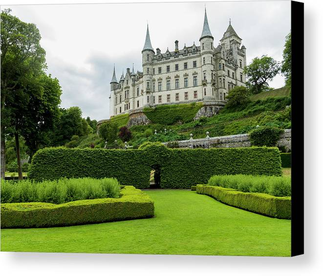 Highlands Canvas Print featuring the photograph Dunrobin Castle Golspie, Scotland by Keith Levit