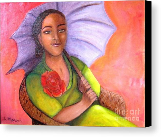 Rose Canvas Print featuring the painting Enchanted Rose by Laurie Morgan