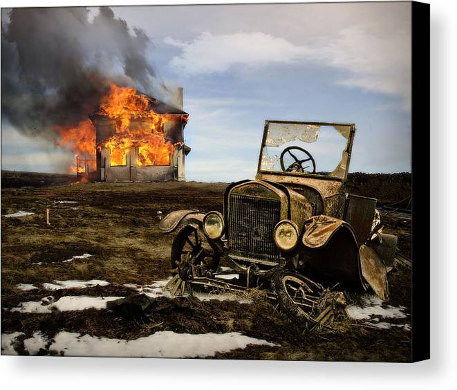 Fire Canvas Print featuring the photograph Fire And Ice by John Anderson