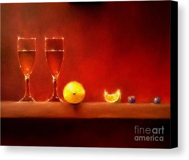 Still Life Canvas Print featuring the painting Fizz by Tony Gittins