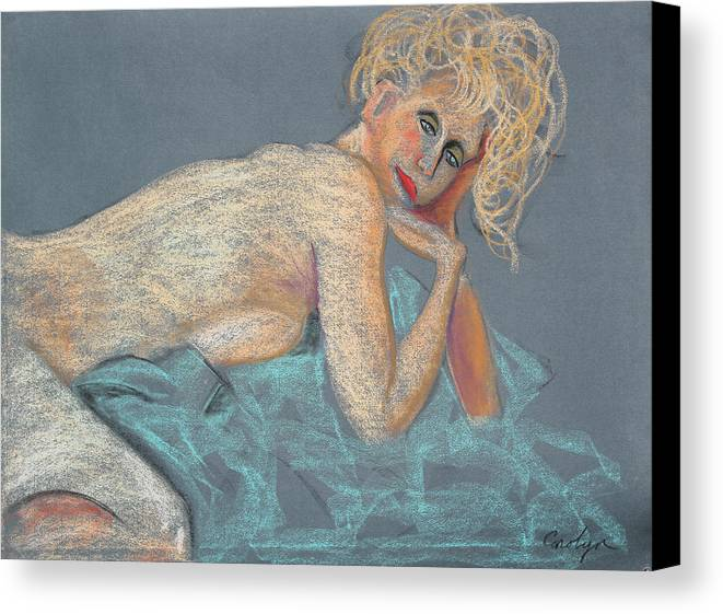 Artistic Nude Canvas Print featuring the painting Forever Coquette by Asha Carolyn Young