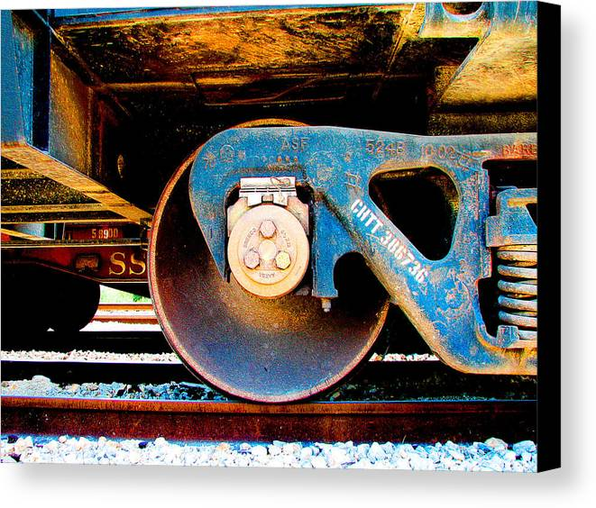Art166 Canvas Print featuring the photograph Foundation 2 by Wendy J St Christopher