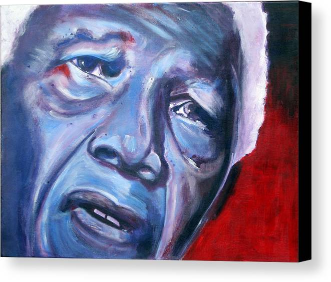 Nelso Mandela Canvas Print featuring the painting Freedom - Nelson Mandela by Fiona Jack