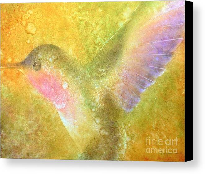 Watercolor Canvas Print featuring the painting Harmony by Robert Hooper