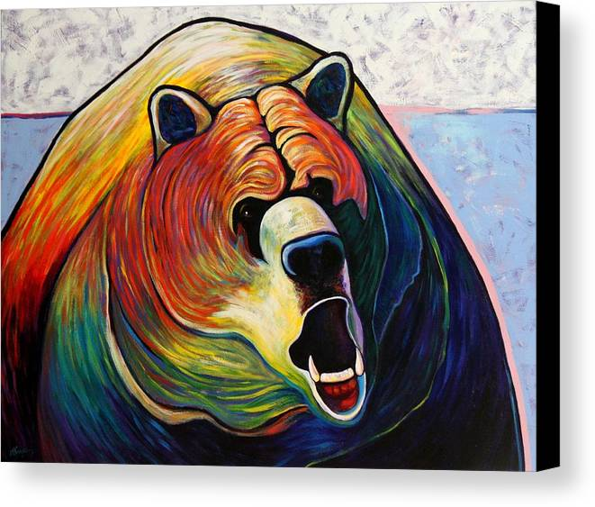 Wildlife Canvas Print featuring the painting He Who Greets With Fire by Joe Triano