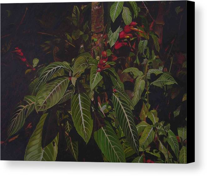 Leaves Canvas Print featuring the painting Leaving Monroe by Thu Nguyen