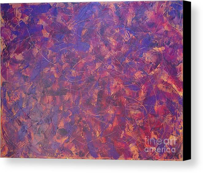 Abstract Canvas Print featuring the painting Long Beach 5am by Dean Triolo