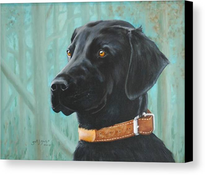 Dog Canvas Print featuring the painting Maggie by Scott Alcorn