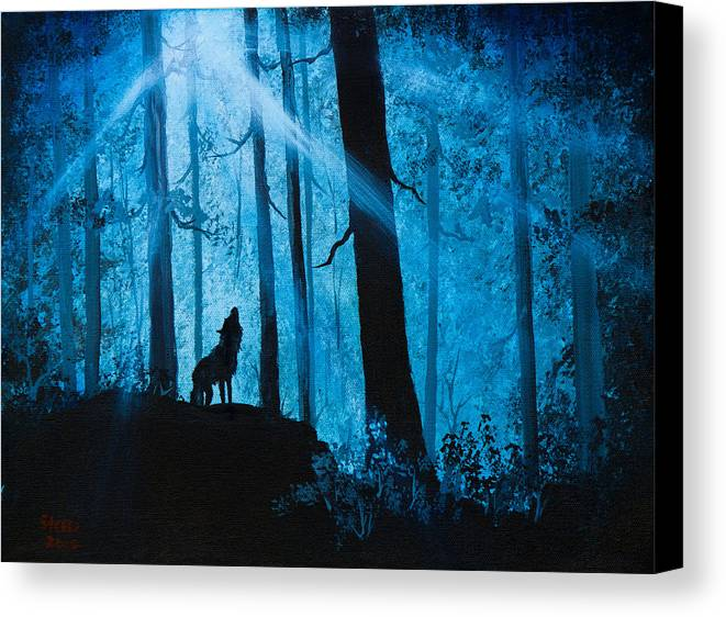 Landscape Canvas Print featuring the painting Moonlight Serenade by C Steele