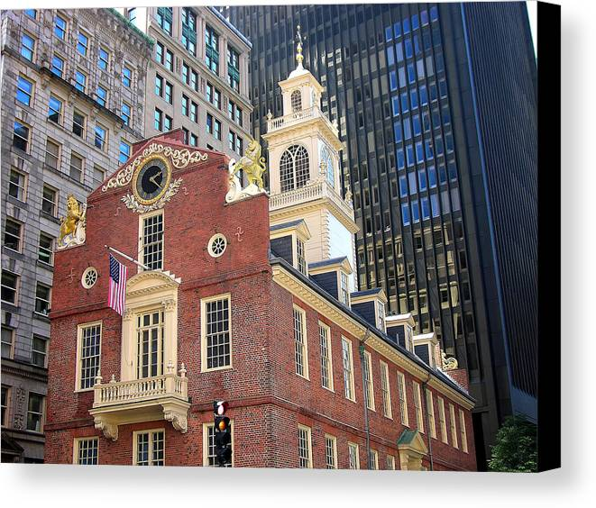 Historic Canvas Print featuring the photograph Old State House by Mary Lane