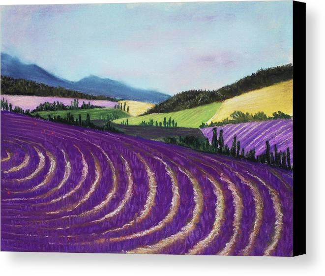Interior Canvas Print featuring the painting On Lavender Trail by Anastasiya Malakhova