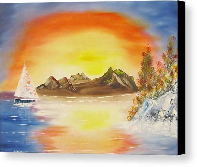 Sunset Canvas Print featuring the painting Orange Glow by Larry Marano