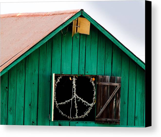 Bliss Canvas Print featuring the photograph Peace Barn by Bill Gallagher