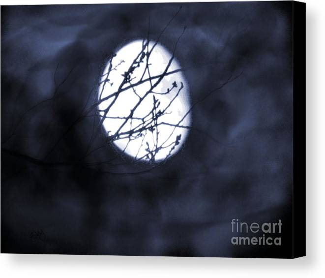 Moon Canvas Print featuring the photograph Pentacle Moon by Roxy Riou