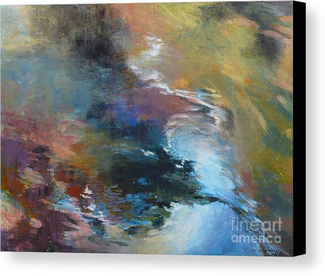 Water Canvas Print featuring the painting Ripples No. 2 by Melody Cleary