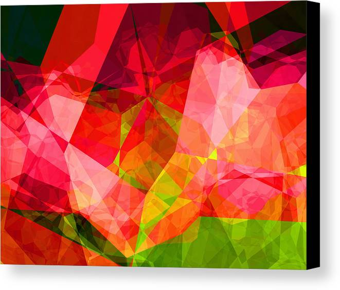 Abstract Canvas Print featuring the digital art Roses by Wendy J St Christopher