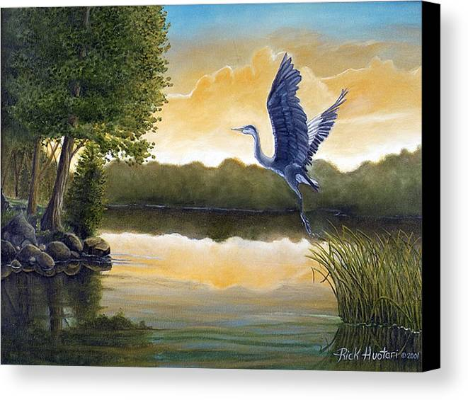 Rick Huotari Canvas Print featuring the painting Serenity by Rick Huotari