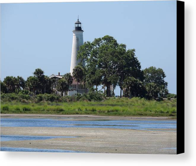 St Mark's Canvas Print featuring the photograph St Marks Lighthouse by Marilyn Holkham