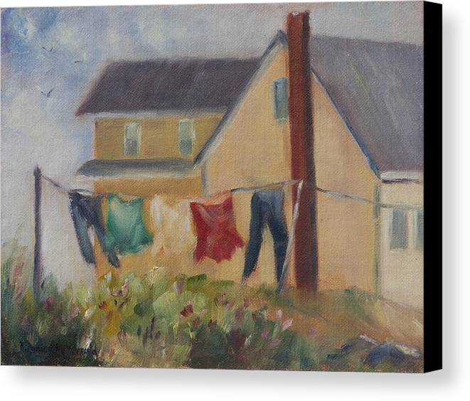 Sea Canvas Print featuring the painting Summer Breeze by Debbie Lamey-MacDonald