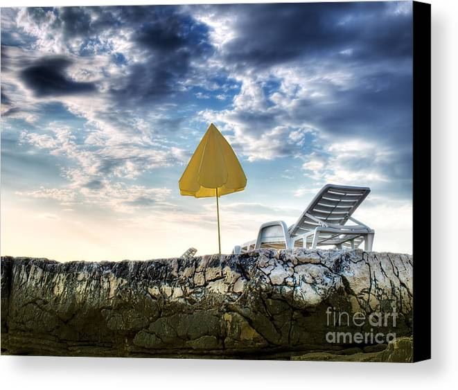 Parasol Canvas Print featuring the photograph Summer Is Over by Sinisa Botas