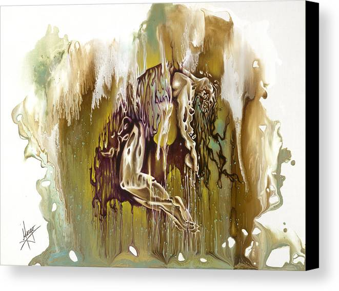 Surrender Canvas Print featuring the painting Surrender by Karina Llergo