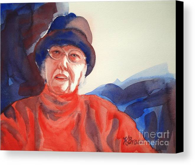 Painting Canvas Print featuring the painting The Lady In Red by Kathy Braud