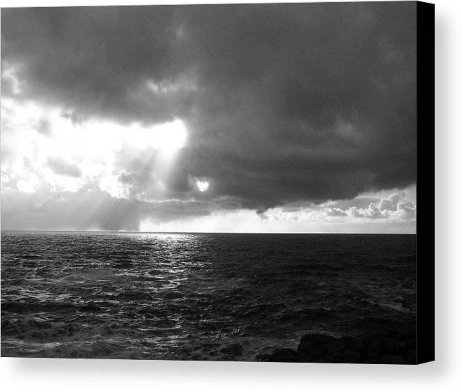Ocean Canvas Print featuring the photograph The Opening by Heather L Wright