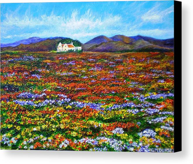 Flower Canvas Print featuring the painting This Must Be Heaven by Michael Durst