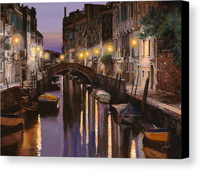 Venice Canvas Print featuring the painting Venezia Al Crepuscolo by Guido Borelli