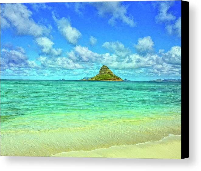Chinaman's Hat Canvas Print featuring the painting View Of Chinaman's Hat by Dominic Piperata