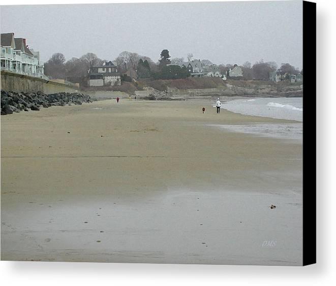 Beach Canvas Print featuring the digital art Walkin' The Beach by David Schneider