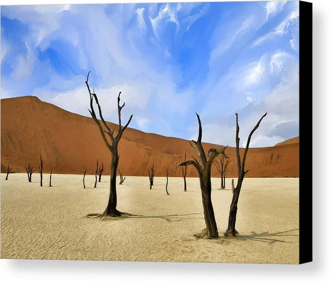 Dead Trees Canvas Print featuring the painting We Who Wait by Dominic Piperata