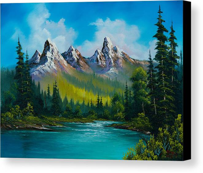 Landscape Canvas Print featuring the painting Wild Country by C Steele