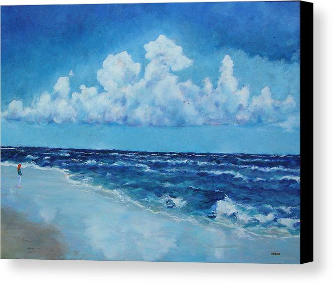 Clouds Canvas Print featuring the painting Sea And Sky by Robert Henne