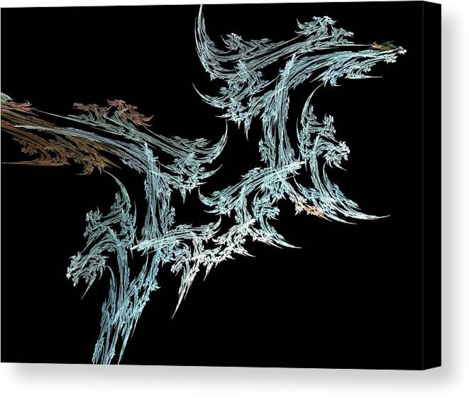 Fractal Flames Canvas Print featuring the digital art Foliage by Michele Caporaso