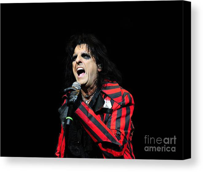 Alice Cooper Canvas Print featuring the photograph Alice Cooper by Jenny Potter