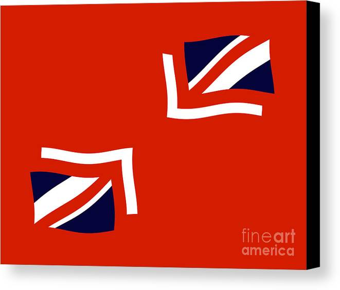 Union Jack Flag Canvas Print featuring the digital art Jax by John Albury