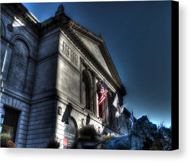 Chicago Canvas Print featuring the photograph Art Institute Of Chicago by Alan Bohms