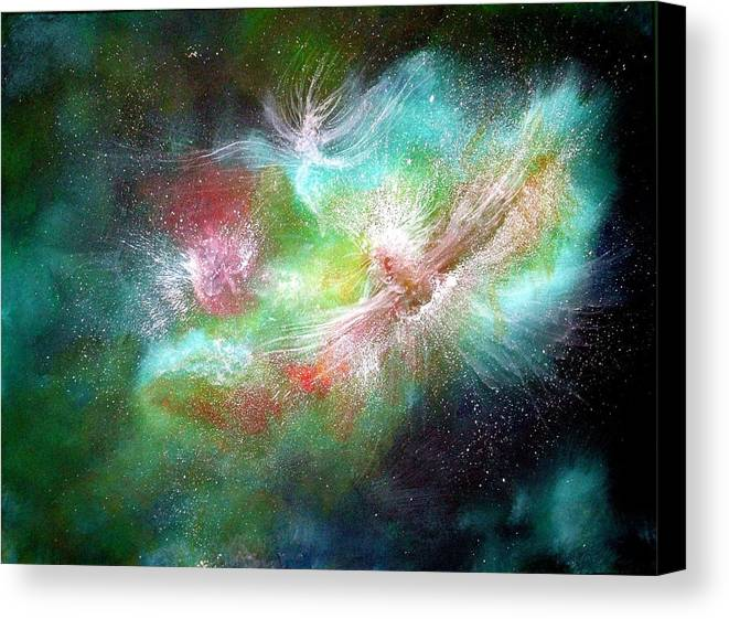Angels Canvas Print featuring the painting Birth Of Angels by Naomi Walker
