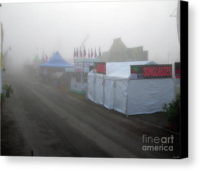 State Fair Canvas Print featuring the photograph Fog On The Midway by Diane Falk