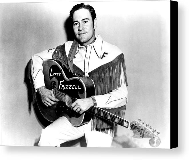 1950s Portraits Canvas Print featuring the photograph Lefty Frizzell, 1950s by Everett