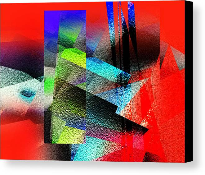Abstract Canvas Print featuring the painting Red Abstract 1 by Anil Nene