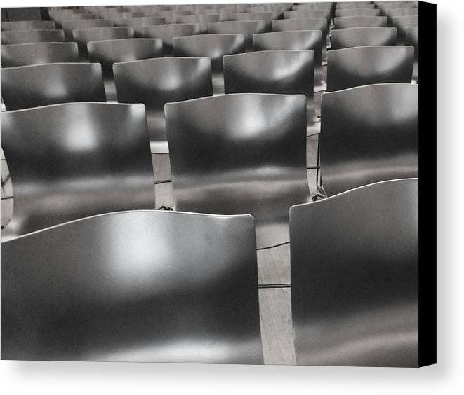 Chairs Canvas Print featuring the photograph Sea Of Seats I by Anna Villarreal Garbis