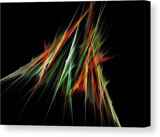 Spike Canvas Print featuring the digital art Spiked by Sara Raber