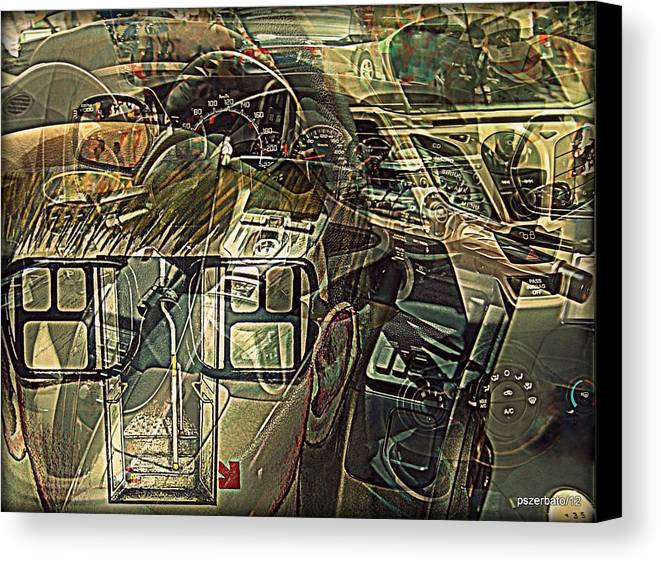 Take The Helm Canvas Print featuring the digital art Take The Helm by Paulo Zerbato